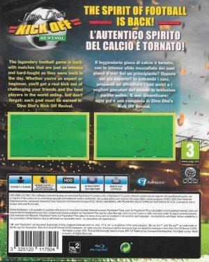 Dino Dini's Kick Off: Revival - PS4 baksida