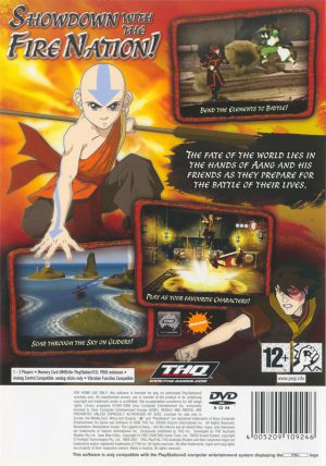 Avatar The legend of Aang - Into the Inferno - PS2 bak