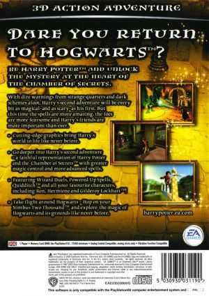 Harry Potter and the Chamber of Secrets - PS2 bak