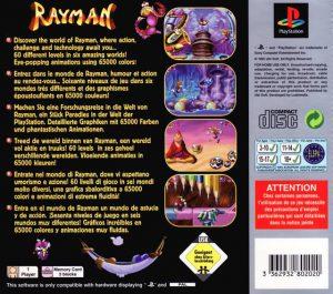 Rayman - Platinum - PS1 - Playstation 1 bak