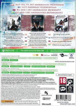 Assassins Creed: Birth of a New World - The American Saga - Xbox 360 bak