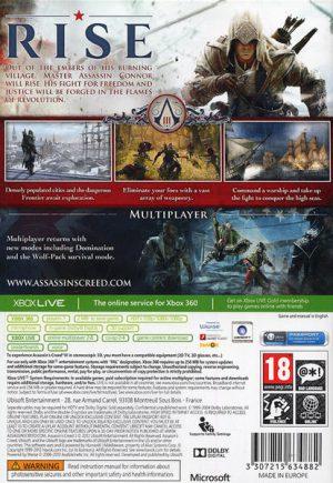 Assassins Creed III - Xbox 360 bak