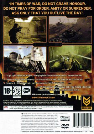 Killzone - PS2 bak