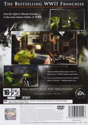 Medal of Honor Vanguard - PS2 bak