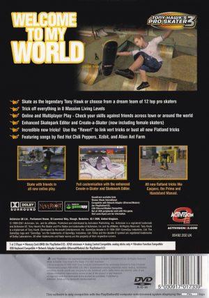Tony Hawk´s Pro Skater 3 - Platinum - PS2 bak