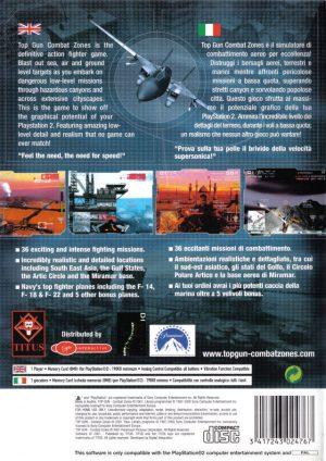 Top Gun Combat Zones - Playstation 2 - PS2 bak