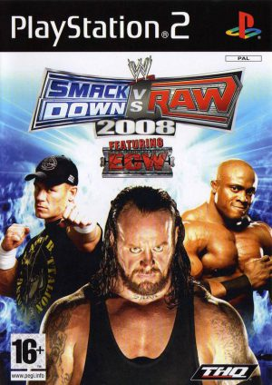 WWE Smackdown vs Raw 2008 - Platinum - PS2