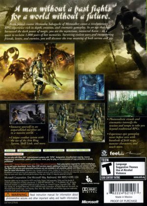 Lost odyssey - NTSC - Xbox 360 bak