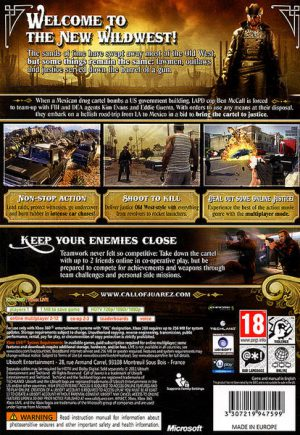 Call of Juarez The Cartel Xbox 360 bak