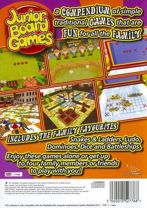 Junior Board Games - PS2 bak
