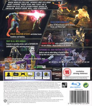Mortal Kombat VS DC Universe - PS3 baksida