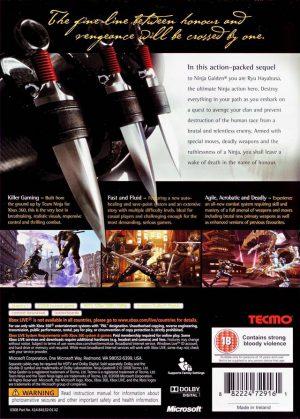 Ninja Gaiden II - Xbox 360 bak