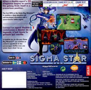 Sigma Star Saga - GBA bak