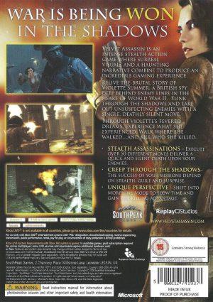 Velvet Assassin - Xbox 360 bak