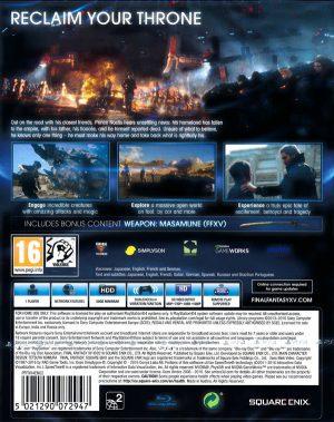 Final Fantasy XV - Day One Edition - PS4 bak