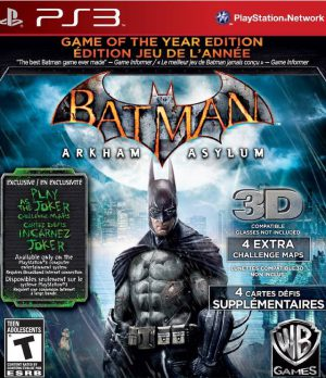 Batman: Arkham Asylum - Game of the Year Edition - Greatest Hits - NTSC - PS3