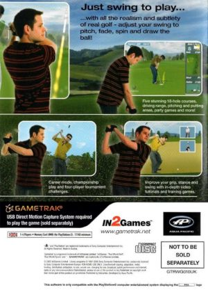 Real Golf - PS2 bak