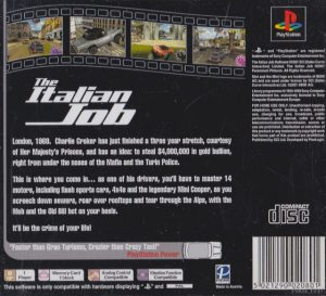 The Italian Job - Playstation 1 bak