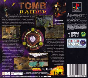 Tomb Raider - Platinum - Playstation 1 bak