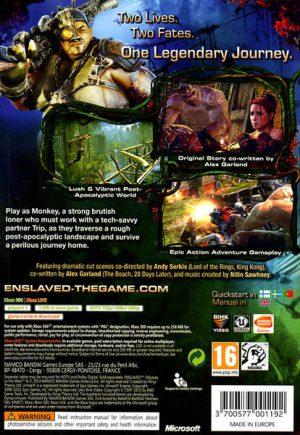 Enslaved Odyssey to the West - Xbox 360 bak