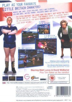 Little Britain The Video Game - PS2 bak