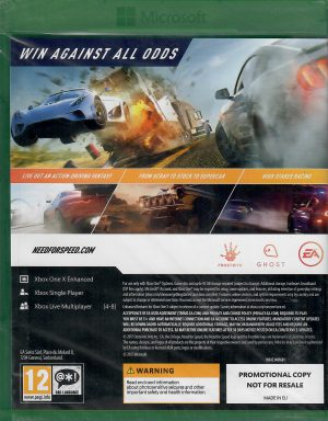 need for speed paybac promotional copy xbox one bak