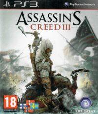 Framsidan till Ubisofts Assassins creed III på Playstation 3
