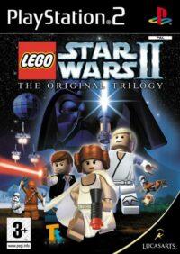 Framsidan till LucasArts och legos LEGO Star wars II: The original trilogy i europeisk PAL utgåva till Playstation 2